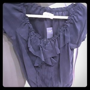 NWT Abercrombie Navy peasant shirt size Medium
